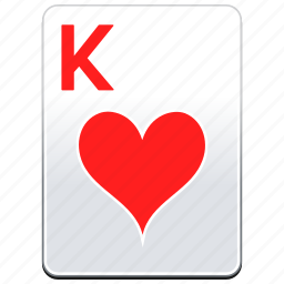 card, casino, hearts, k, king, poker icon