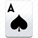 a, ace, aces, card, casino, poker, spades icon