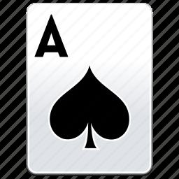 a, ace, aces, card, casino, poker, spades icon