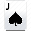 card, casino, j, jack, poker, spades icon