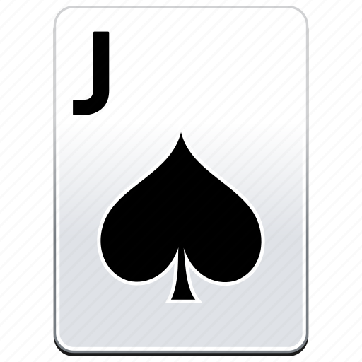 Card, casino, j, jack, poker, spades icon