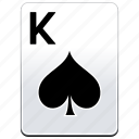 card, casino, k, king, poker, spades icon