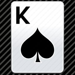 card, casino, k, king, poker, spades icon