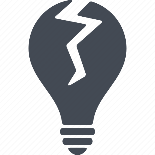 bulb, creative, idea, working icon