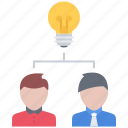 brainstorm, bulb, business, founder, idea, startup, team icon