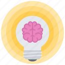 brain, bulb, creative, idea, light, science, smart