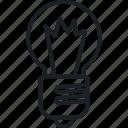brainstorm, idea, shining head, think icon