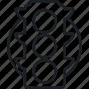 brainstorm, idea, think, traffic icon