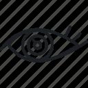 brainstorm, eye, idea, think icon