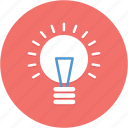 bright, bulb, creative, idea, inspiration, light icon
