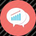 graphs, discussion, concept, dialog, speech bubble icon