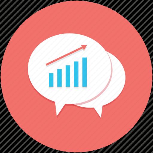 concept, dialog, discussion, graphs, speech bubble icon