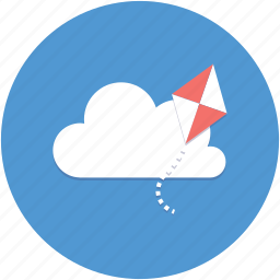 cloud, creative, flying, idea, inspiration, kite icon