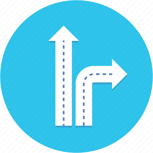 decision, road, sign, strategy icon