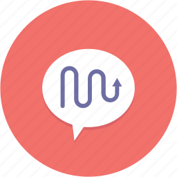 bubble, concept, graph, idea, speech icon