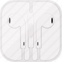 apple, box, earpods, headphones, music, white,  icon