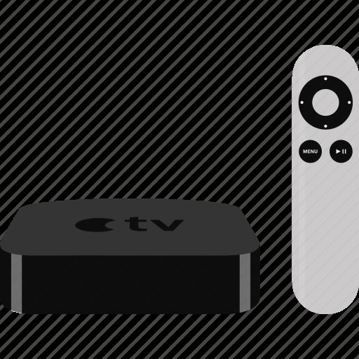 apple, remote, television, tv,  icon