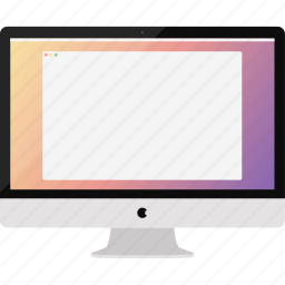 apple, computer, desktop, imac, mac os, monitor, screen icon