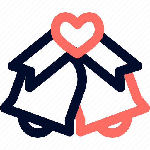 bell, couple, love, valentine, wedding icon
