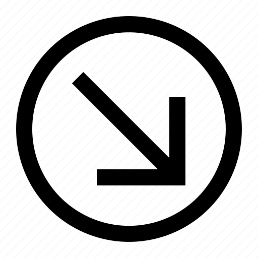 arrow, circle, down, right, up icon