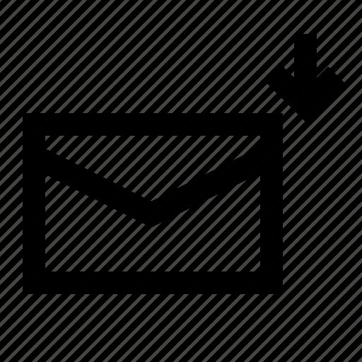 communication, inbox, message, phone icon