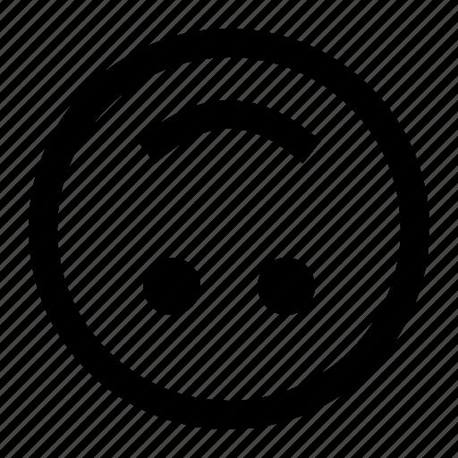 down, emoji, emoticon, face, upside icon