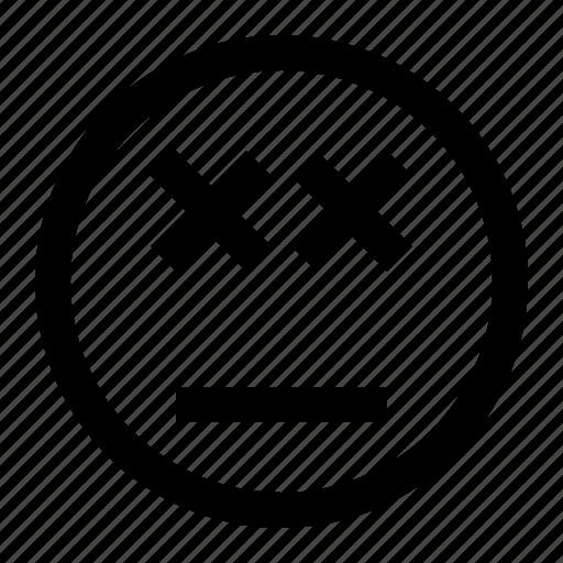 emoji, emoticon, face, headache icon