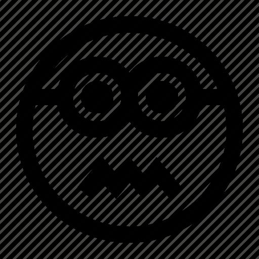 emoji, emoticon, face, minion, sicksad icon
