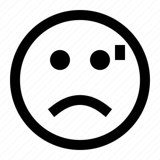 emoji, emoticon, face, frowned, tired icon