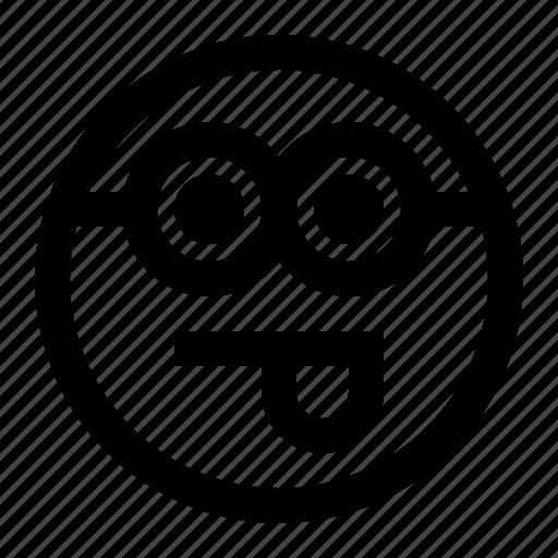 emoji, emoticon, face, minion, tongue icon
