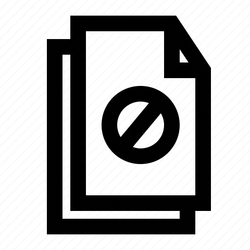 banned, document, file, folder, paper icon