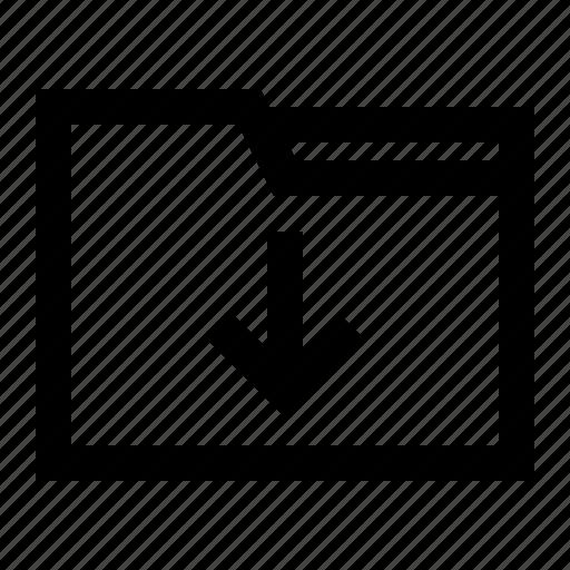 arrow, data, document, download, folder icon
