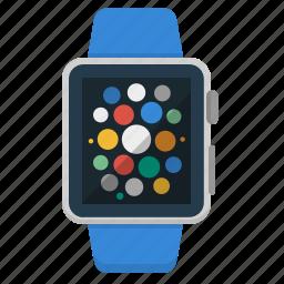 apple, clock, device, iwatch, smart watch, watch, wrist icon