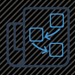 document, page, planning, scheme, workflow icon