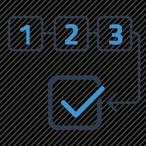 order, plan, planning, schedule, workflow icon