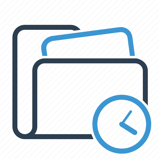 archive, clock, folder, plan, planning, project, strategy icon