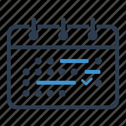 appointment, calendar, deadline, milestones, planning, schedule icon