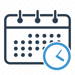calendar, clock, planning, schedule, timing icon