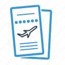 airline, boarding pass, flight, ticket, travel, trip, vacation icon