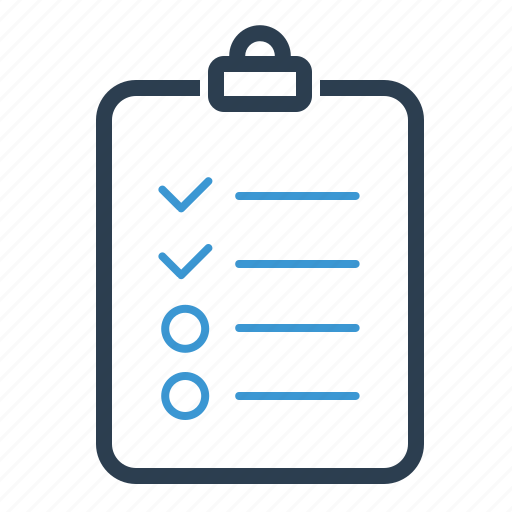 checklist, clipboard, tasks, todo list icon