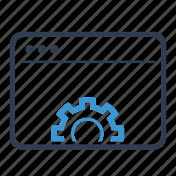 browser, gear, optimization, seo, seo sevice, settings, webpage icon