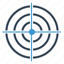 aim, bullseye, business goal, market target, purpose, target, targeting icon