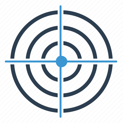 aim, business goal, market target, targeting icon