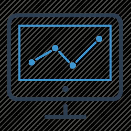 analytics, business progress, chart, monitoring, report, sales, statistics icon