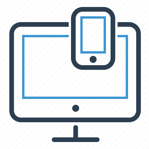devices, interface, mobile, responsive design icon