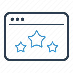 browser, page ranking, quality, rank, reputation, star, web page icon
