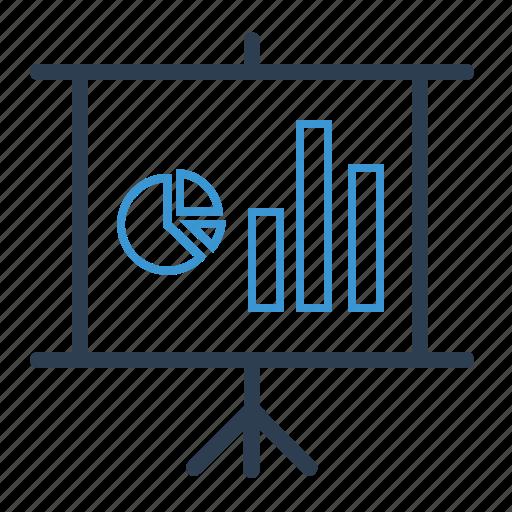 analysis, blackboard, chart, presentation, reporting, seo analytics, training icon