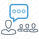 conference, conversation, speech, training icon