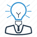 business idea, imagination, light bulb, solution icon