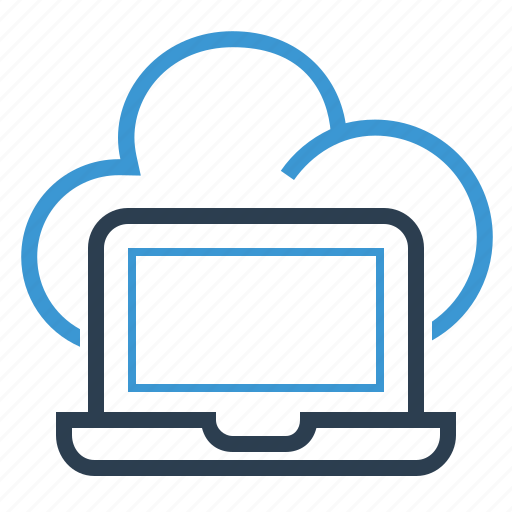 cloud, computing, laptop, network, share, sharing, storage icon